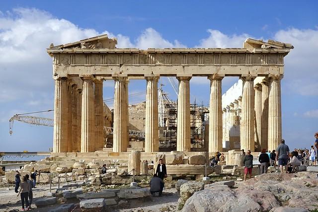 Le Parthénon, face est (Acropole d'Athènes)