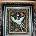 010 Crane, detail on panel,  Lim Fah San Monastery, Kuching, Sarawak