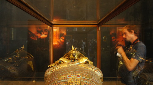 King Tut's Golden sarcophagus at the Egyptian Museum in Cairo | by Kodak Agfa
