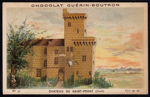 French Tradecard - Chateau de Saint-Privat