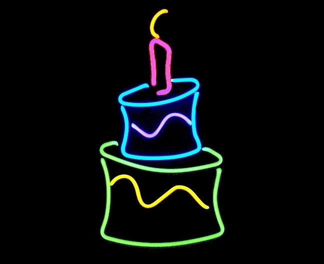 Surprising Neon Birthday Cake Sculpture Etsy Me 1Qjqgut Vegaswilly Flickr Funny Birthday Cards Online Alyptdamsfinfo