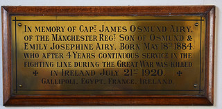 after 4 years continuous service in the fighting line during the Great War was killed in Ireland