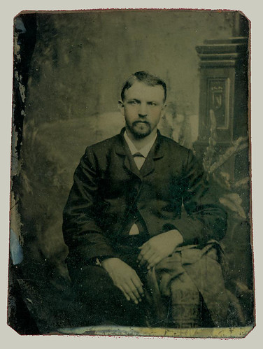 Tintype Man with Mustache