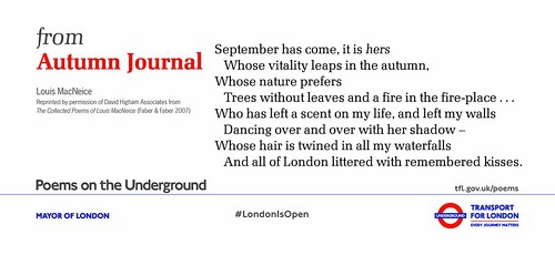Poems on the Underground: #LondonIsOpen - an album on Flickr