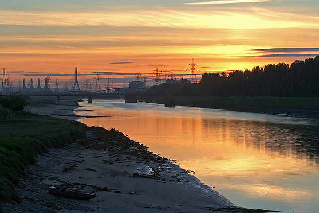 Industrial Sunset (HDR)