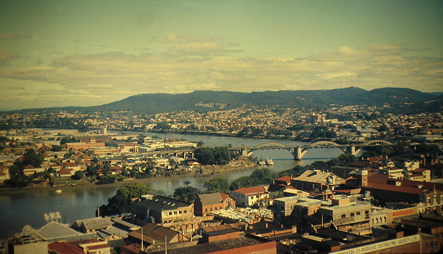 Australia 1959, William Jolly (Grey Street) Bridge Brisbane