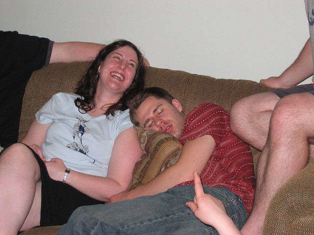 Zach sleeping on KT
