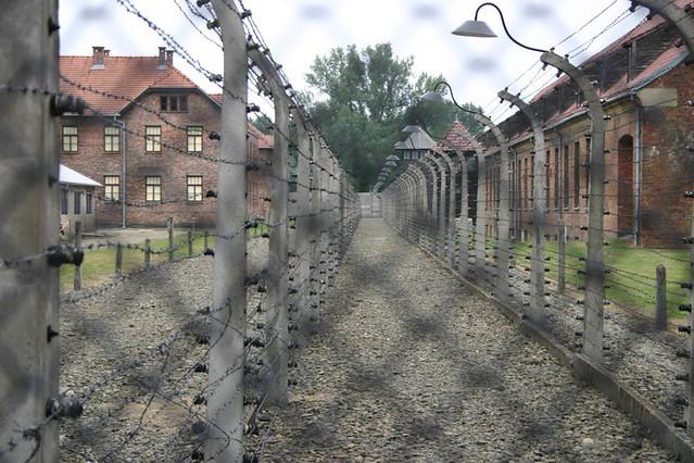 Electric fence at Auschwitz. - Auschwitz, Poland, 2006.