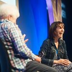 Zoe Williams chats to Chair Ruth Wishart | Zoe Williams talks to Ruth Wishart at the Edinburgh International Book Festival © Alan McCredie