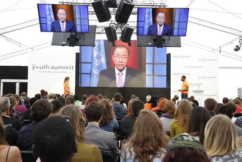 UN Secretary General Ban Ki-moon addresses the Youth Summit | by DFID - UK Department for International Development