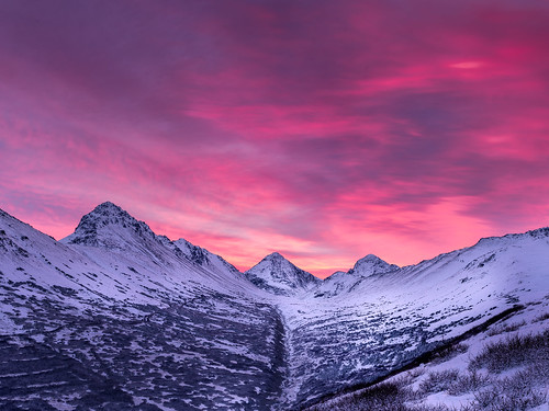 morning winter sky mountain snow mountains alaska clouds sunrise landscape nikon d750 tamron chugach anchoragealaska chugachmountains chugachstatepark ptarmiganpeak rabbitcreek northsuicidepeak tamronsp2470mmf28divcusd