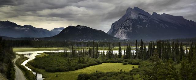 Approaching Rain In Banff, Alberta, Canada