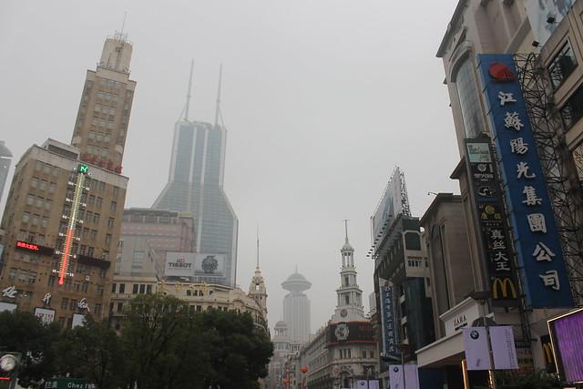 Het centrum van Shanghai