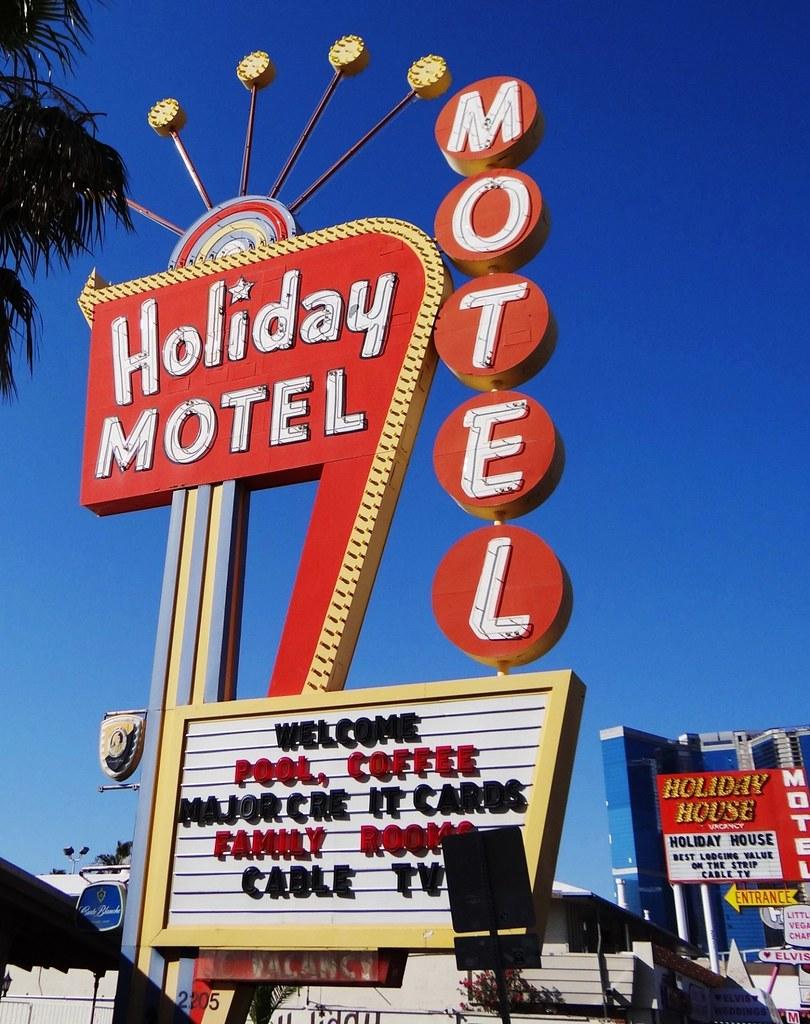 NV, Las Vegas-U.S. 91(Old) Holiday Motel Neon Sign