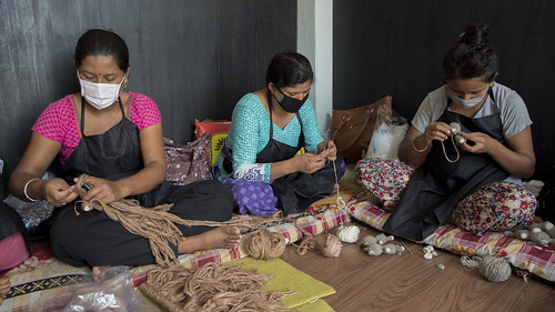 Women Knit Handicrafts | by World Bank Photo Collection