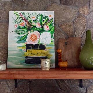 Updated mantle with my painting! Happy family room! #megancarty | by mlcassid