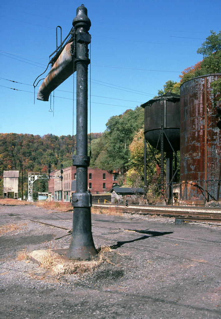 CSX (former C&O) stand pipe with a water spout is located