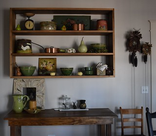 Autumn Dining Room Decor - Yellow ware & cuckoo clocks | by A Storybook Life