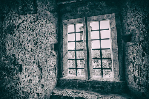 ireland blackandwhite history window monochrome cork indoor blarneycastle