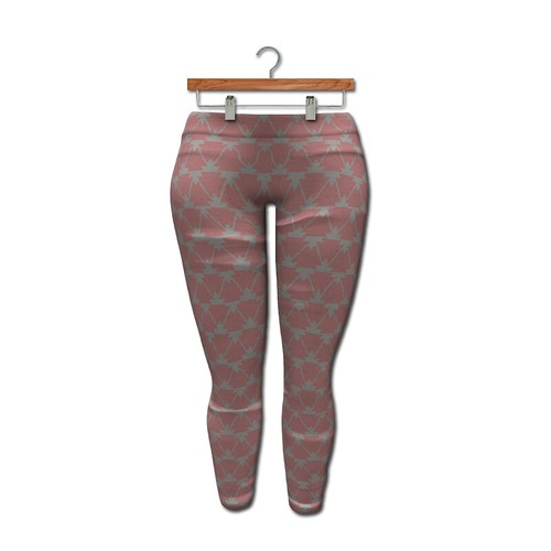 {MYNX} Leggings - Pink Double Triangles