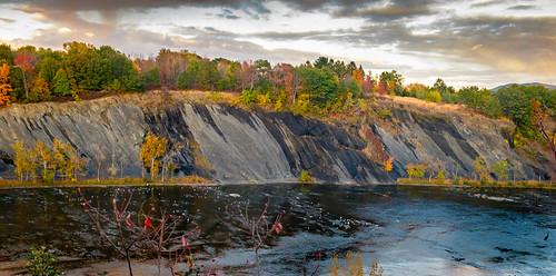 autumn sunset fall river waterfall fuji finepix fujifilm riverbank cohoes x100sp