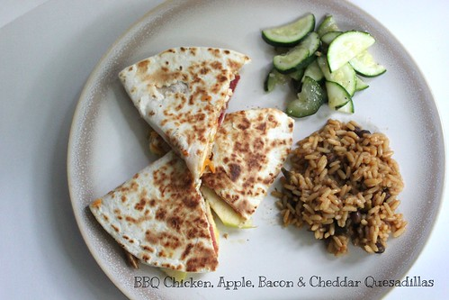 BBQ  Chicken Apple, Bacon and Cheddar Quesadillas | by NY Foodie Family