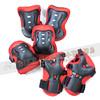 110-612 POPBIKE-普派-兒童滑步車運動6件式護具(護掌2護肘2護膝2)-紅黑(適6歲以下兒童)