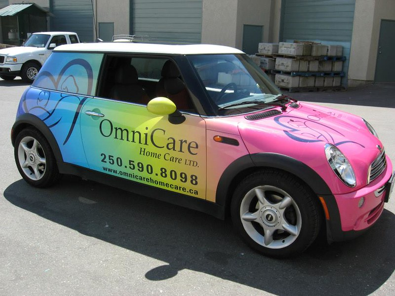 Omni mini wrap vehicle graphics