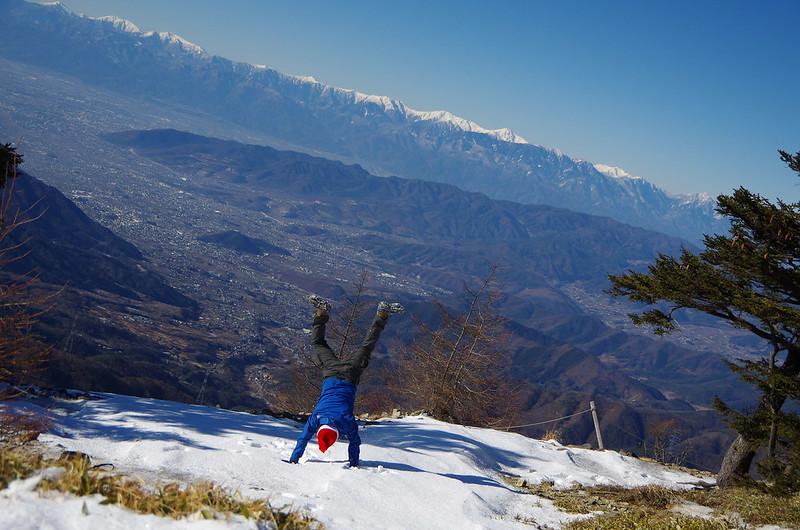大菩薩嶺の稜線からの展望