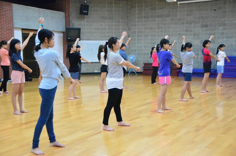 學弟妹都很願意把啦啦練習擺在第一位,彼此感情也更凝聚。圖/游騏瑄提供。