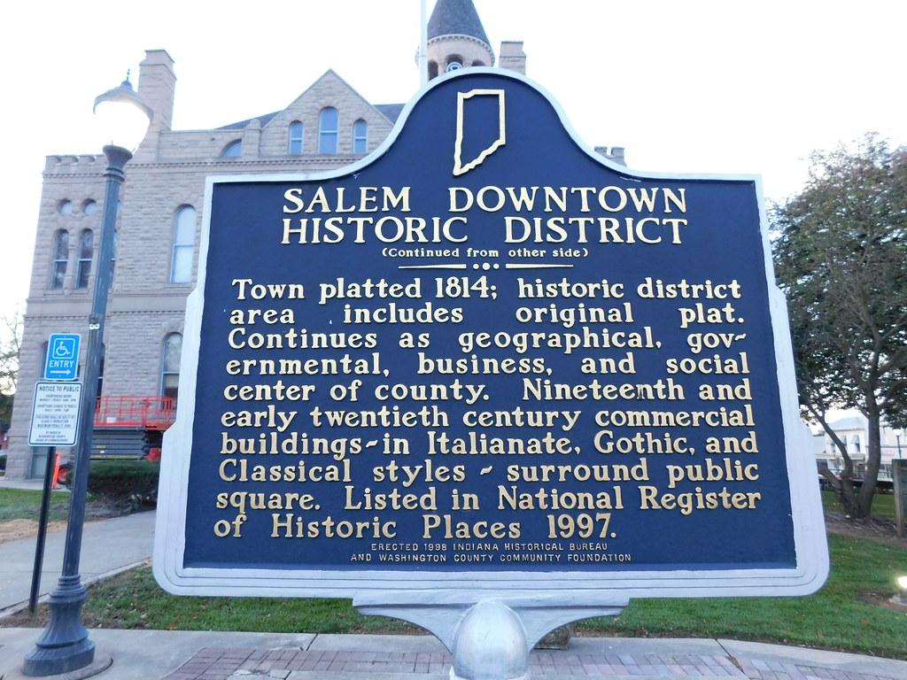 Salem Downtown Historic District Marker