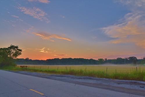 mist nature field rural sunrise dawn illinois nikon wideangle lincolnshire tokina stevelamb 1116mm d7200