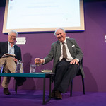 Alexander McCall Smith with his Chair Jamie Jauncey | Alexander McCall Smith talks to his Chair Jamie Jauncey about his love affair with Edinburgh © Alan McCredie