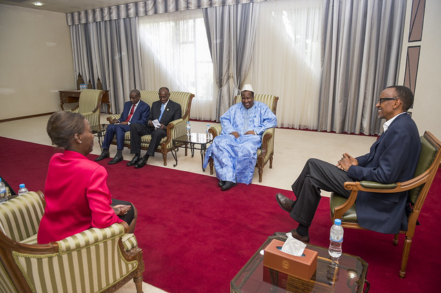 President Kagame meets with Alpha Oumar Konare, former President of Mali and African Union High Representative to South Sudan- Kigali, 24 August 2015