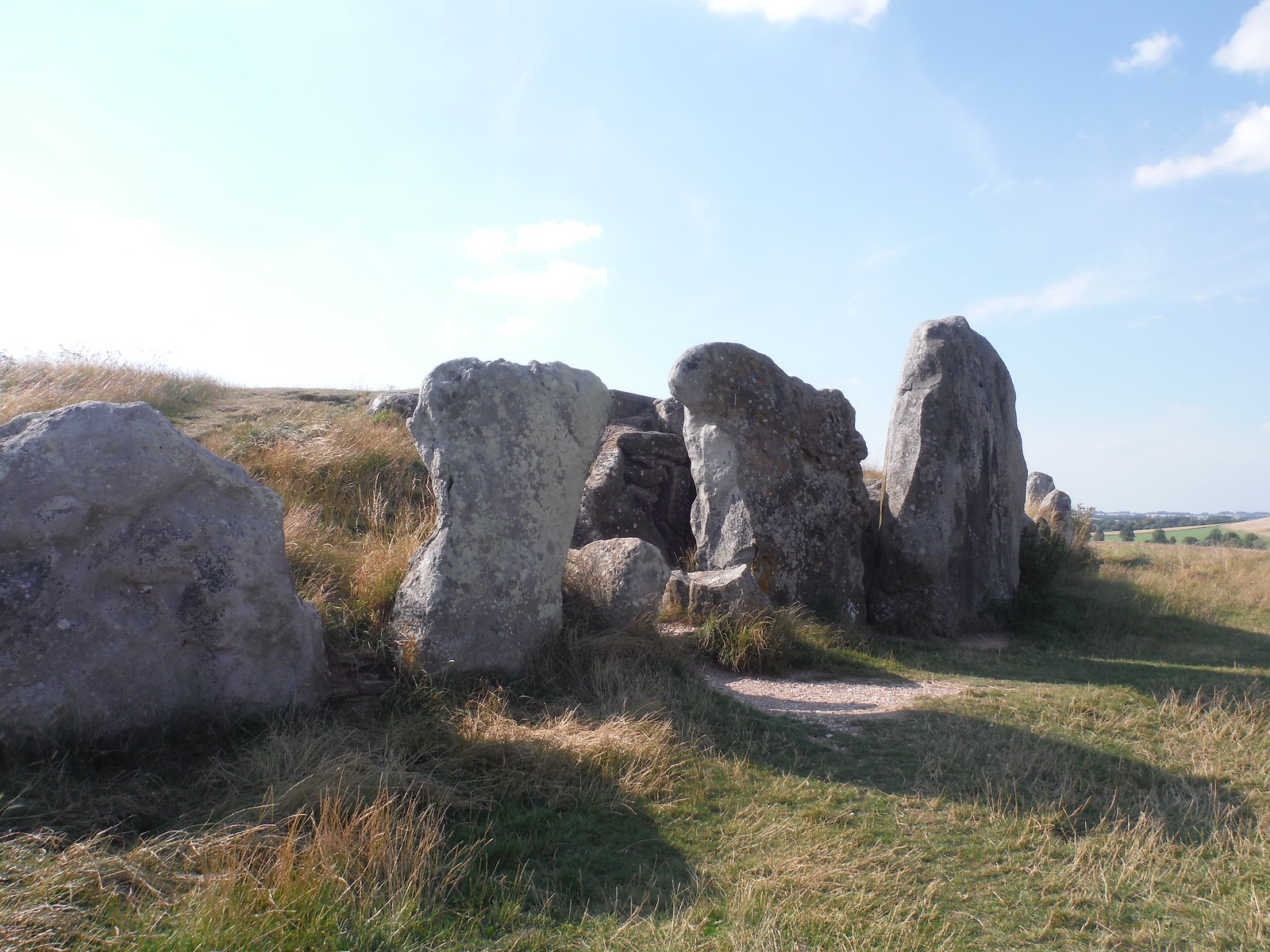 West Kennett Long Barrow, Entrance SWC Walk 255 Pewsey or Marlborough Circular via Avebury