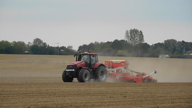Case IH Magnum 290 tractor with Pöttinger Terrasem C6