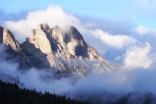 licht österreich himmel wolken berge leogang gipfel explored abbendlicht mitterhorn