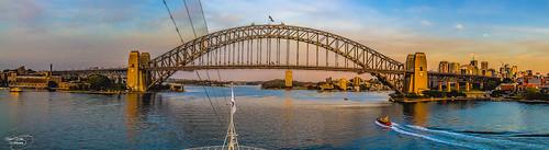 sea sky panorama architecture sunrise canon ship widescreen sydney australia circularquay panoramic nsw 1855mm hdr sydneybridge ngg kevinwalker canon1100d