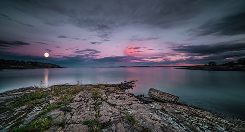 longexposure sea summer sky moon seascape water colors norway clouds landscape evening nikon fullmoon le coastline archipelago bluemoon d800 afterburn 14mm samyang