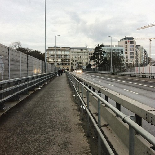 Just arrived in Luxembourg City for a seminar and decided to walk to the hotel to experience the famous bridges. Unfortunately, this is all I saw... | by Daveness_98