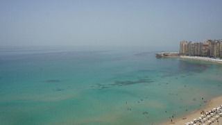 The big wide sea in Sidi Bishr , Alexandria   by Kodak Agfa