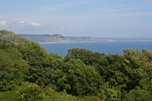 The coast path through the Axmouth to Lyme Regis undercliff