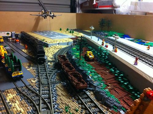 LEGO trains landscape WIP