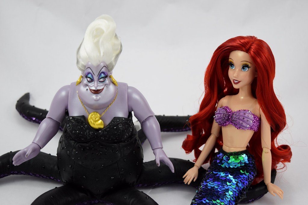 Disney The Little Mermaid Ariel Plush Doll Classic Style -New for 2014 21 H