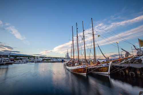 blue sea sky water clouds sunrise canon boat is iceland long exposure sailing ship time ngc september le northeast húsavík 1635f4lis