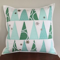 Winter Forrest Throw Pillow
