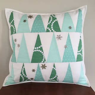 Winter Forrest Throw Pillow | by Modern Quilting by B