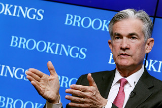 "Governor Jerome Powell speaks at Brookings panel, ""Are there structural issues in U.S. bond markets?"" 