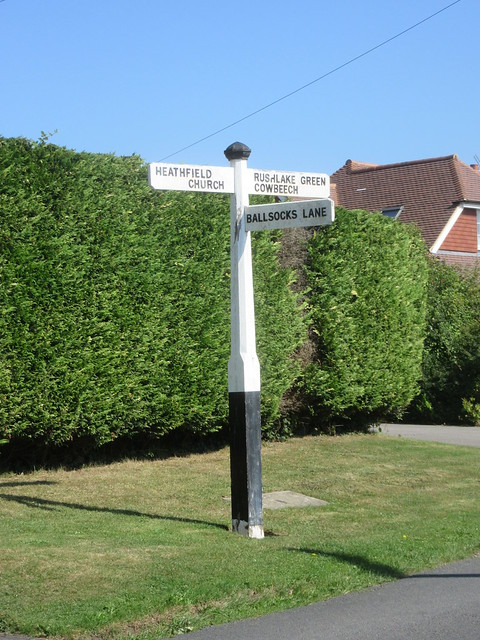 Fingerpost at Foords Lane, Vines Cross