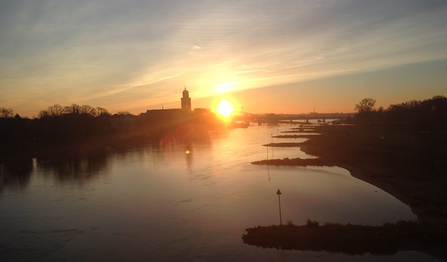 Deventer sunrise Netherlands 2016 07